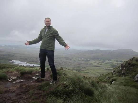 Justin Dolan Stover examining the bogs of Connemara, Galway