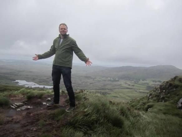 Justin Dolan Stover examining the bogs of Connemara, Galway